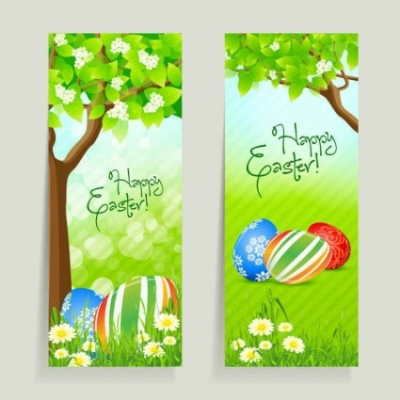 Free vector Vector background  fresh Easter vector material