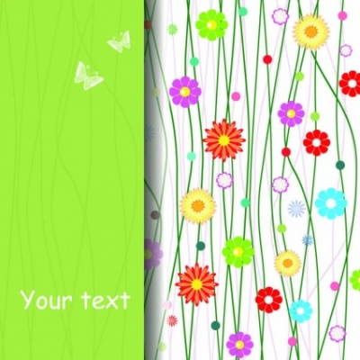 Free vector Vector background  Fresh plant pattern vector Background
