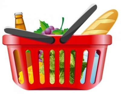 Free vector Vector misc  fruits and vegetables and shopping basket 01 vector