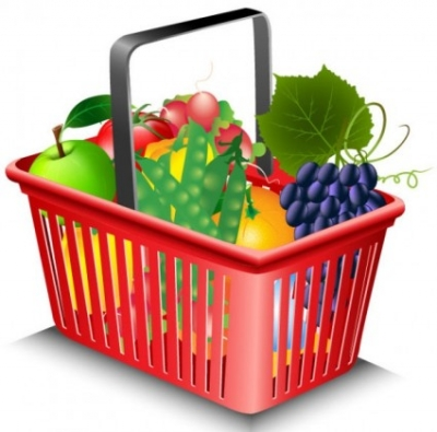 Free vector Vector misc  fruits and vegetables and shopping basket 02 vector
