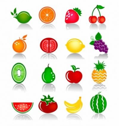 Free vector Vector icon  Fruits Colorful Icons
