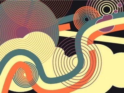 Free vector Vector background  Funky background