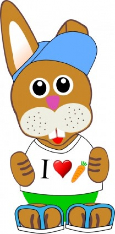 Free vector Vector clip art  Funny bunny with summer fashion wear