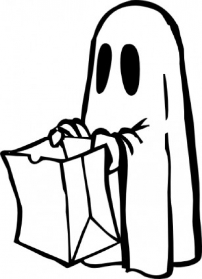 Free vector Vector clip art  Ghost With Bag Black And White clip art