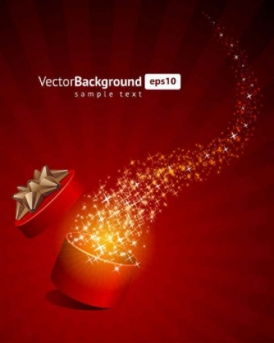Free vector Vector background  Gift Box Star Background