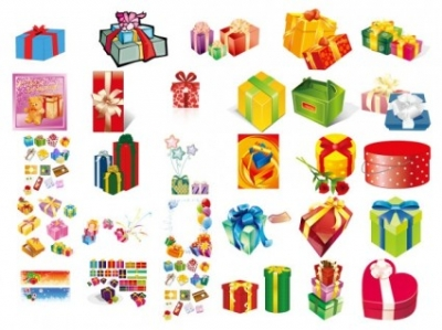 Free vector Vector misc  gifts gift box set of vector