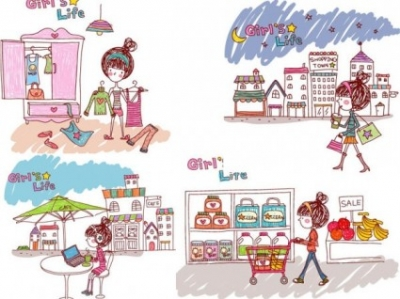 Free vector Vector people  girl life vector eps girl life