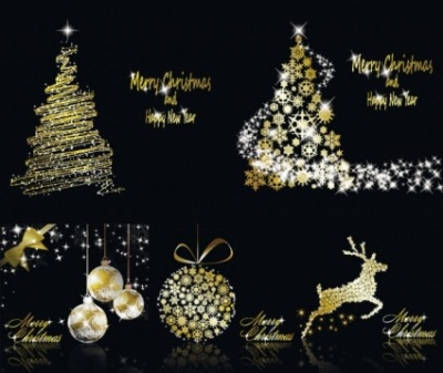 Free vector Vector Christmas  glittering christmas element vector