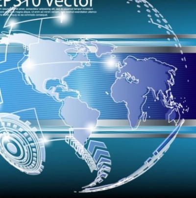 Free vector Vector background  global technology text background vector 1
