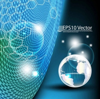 Free vector Vector background  Global Technology vector background
