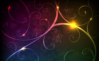 Free vector Vector background  Glowing Floral Background