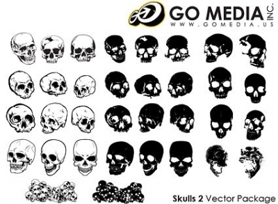Free vector Vector misc  go media produced vector multiangle skull