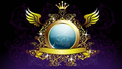 Free vector Vector misc  Gold Decoration Shield