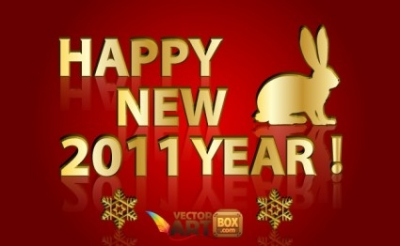 Free vector Vector misc  Gold New Year Vector