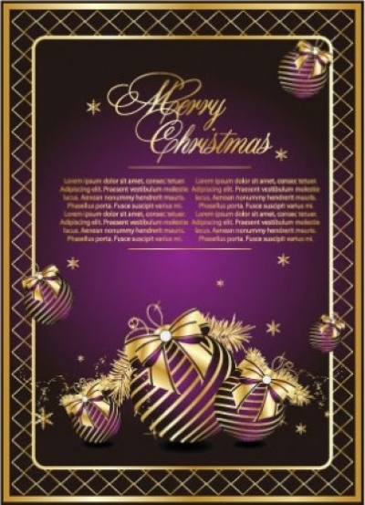 Free vector Vector Christmas  golden christmas theme vector 1