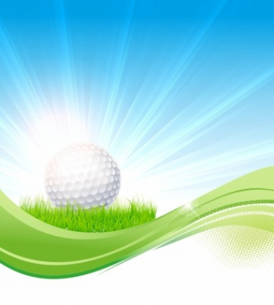 Free vector Vector sport  Golf flow background