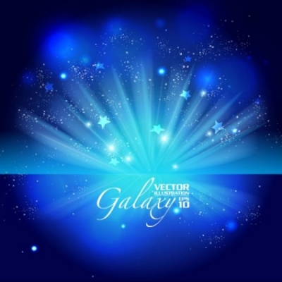 Free vector Vector background  gorgeous blue glare background 02 vector