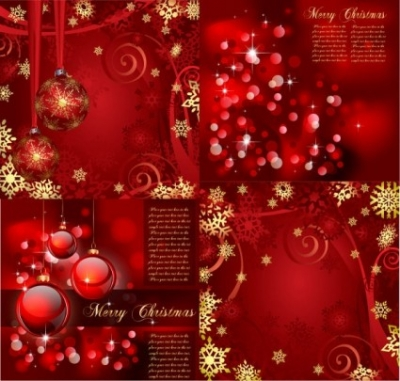 Free vector Vector background  gorgeous bright christmas background pattern vector