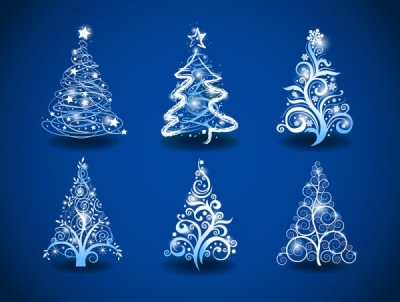 Gorgeous christmas tree 01 vector Free vector 1.68MB