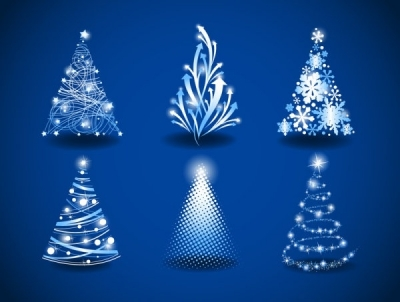 Free vector Vector Christmas  gorgeous christmas tree 03 vector