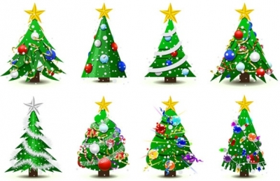 Gorgeous christmas tree vector Free vector 2.88MB