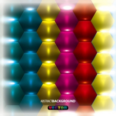 Free vector Vector background  gorgeous threedimensional background 03 vector