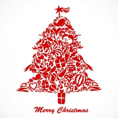 Free vector Vector Christmas  graffiti christmas tree vector