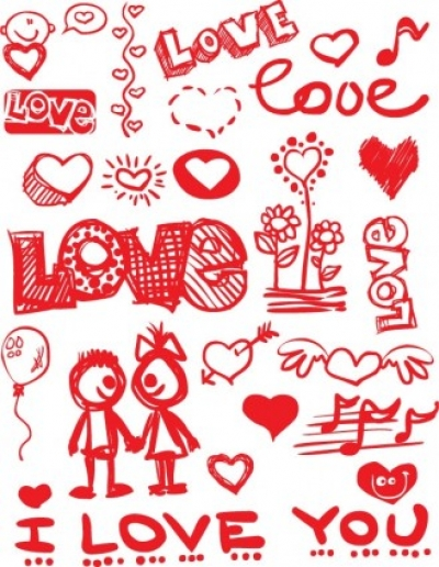 Free vector Vector Heart  graffitistyle valentine day vector elements