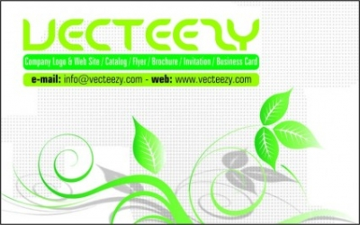 Free vector Vector misc  Green Business Card Template