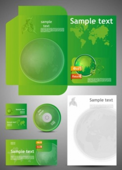 Free vector Vector misc  green card template 05 vector