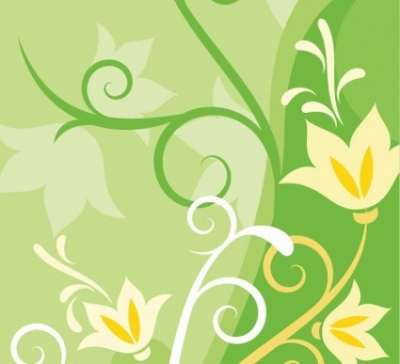 Free vector Vector background  Green Floral Abstract Background Vector Background