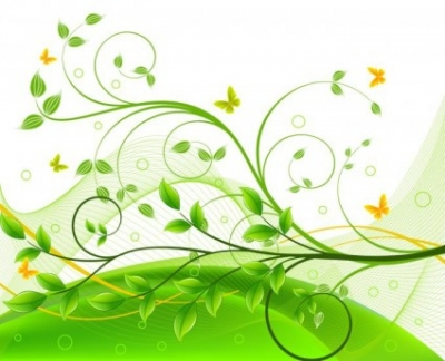 Free vector Vector background  Green Floral Background