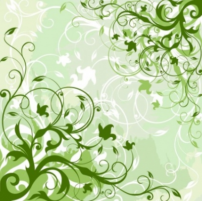 Free vector Vector background  Green Floral Background Vector Graphic
