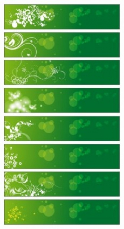 Free vector Vector banner  Green Floral Banners Vector
