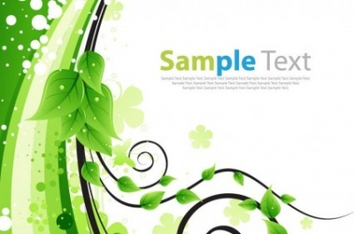 Free vector Vector plant  Green Floral Greeting Card Vector Illustration