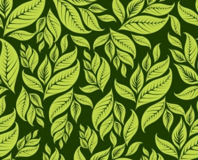 Free vector Vector pattern  Green Floral Pattern