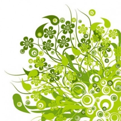 Free vector Vector floral  Green Floral Vector Graphic
