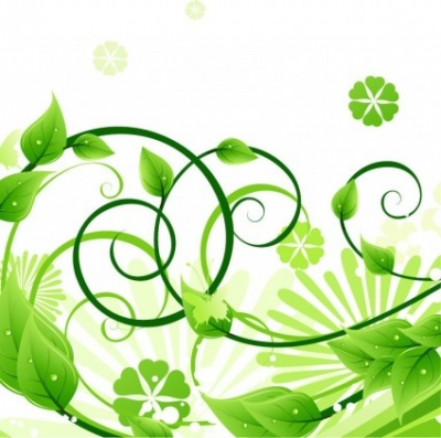 Free vector Vector floral  Green Floral Vector Illustration