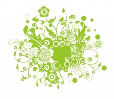 Free vector Vector floral  Green Floral Vector Illustration Art