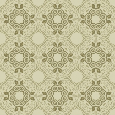 Free vector Vector floral  Green Floral Wallpaper