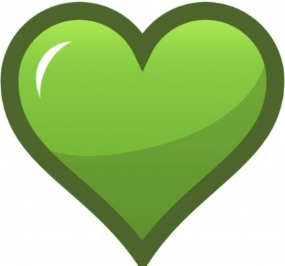 Free vector Vector clip art  Green Heart Icon