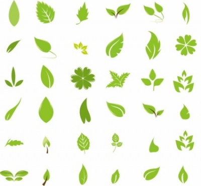 Free vector Vector misc  Green Leaf Design Elements