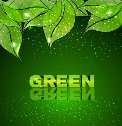 Free vector Vector background  Green leaf vector background