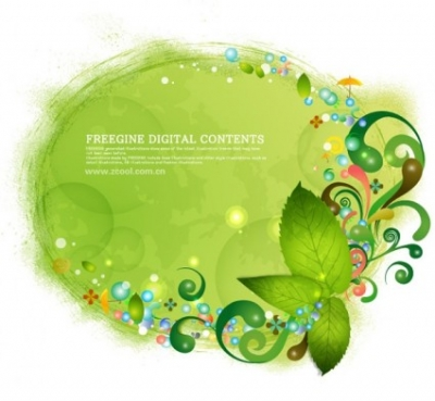 Free vector Vector background  green leaves and colorful background pattern vector