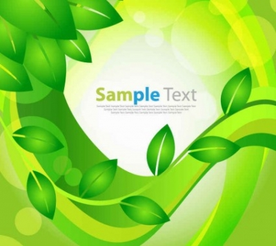 Free vector Vector background  Green Leaves Floral Background