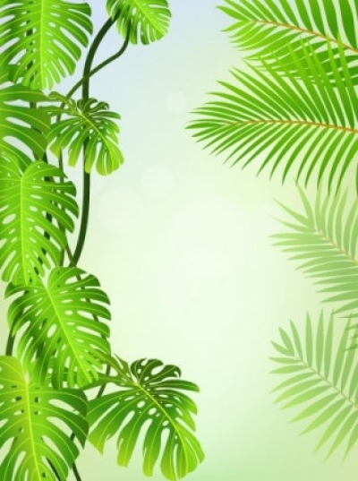 Free vector Vector background  green leaves theme background 04 vector