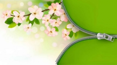 Free vector Vector background  Green pink flower background