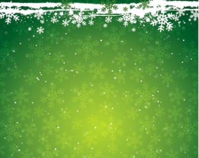 Free vector Vector background  Green Snowflake the Christmas Theme Vector Background Material