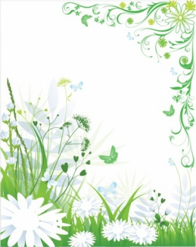 Free vector Vector flower  Green spring and summer background