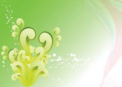 Free vector Vector background  green swirly vector background, swirl vector tutorial